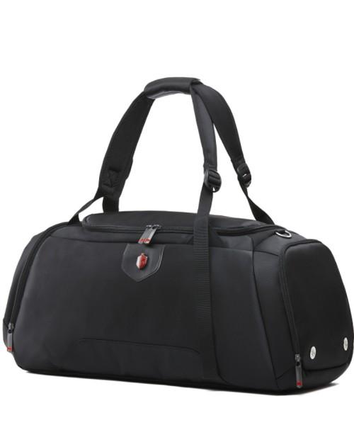Krimcode Sport Attire Reisetasche - mit Schultergurt, 50 Liter Volumen, schwarz (KSTL02-1N0SM)