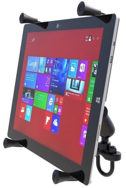 RAM Mounts Lenkerhalterung mit X-Grip Universal Halteklammer für 12 Zoll Tablets - Klemmschelle, mit