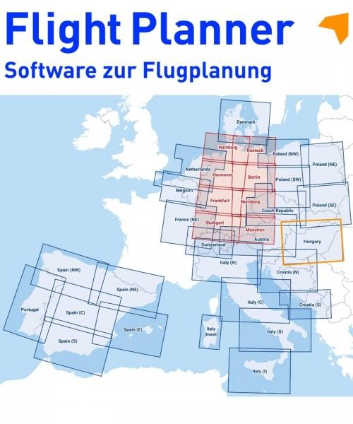 Flight Planner / Sky-Map - DFS Visual 500 Hungary