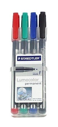 Overhead marker, permanent (water resistant), Set of 4 markers