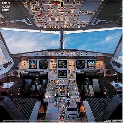 Cockpit Poster Airbus A319 / 320 / 321