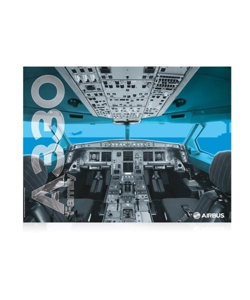 Airbus A330 Cockpit Poster - 80 x 60 cm