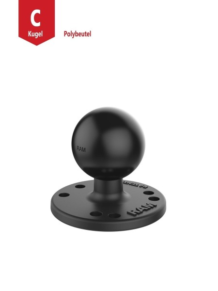 RAM MOUNT Base Plate with 1.5 inches Ball (RAM-202U)