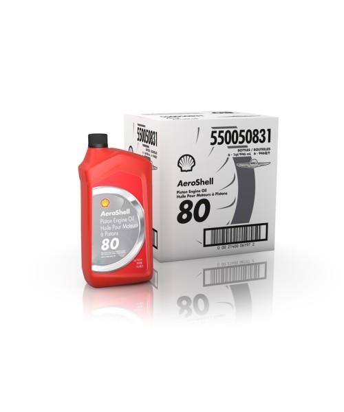 AeroShell Oil 80 - Box (6x 1 AQ Bottles)