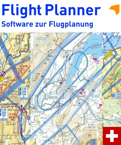 Flight Planner / Sky-Map - Trip-Kit Switzerland (V500 Chart and AIP)