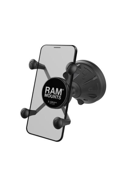 RAM Mounts Mighty Buddy Saugfusshalterung mit X-Grip Universal Halteklammer für Smartphones - im Pol