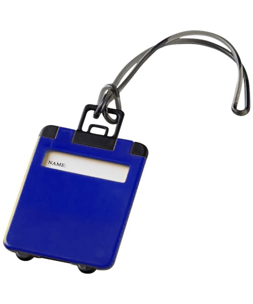 Luggage Tag - blue/black